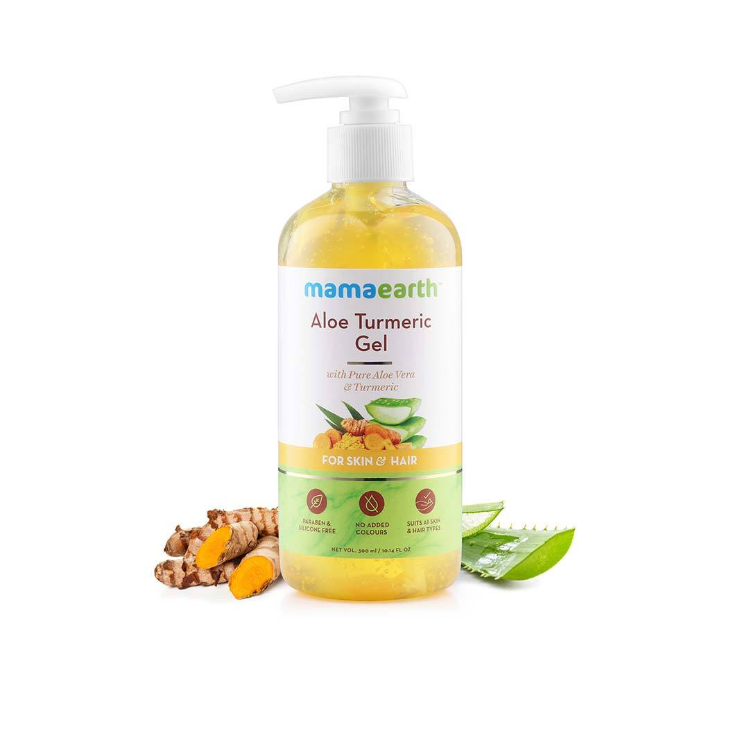 Mamaearth Aloe Turmeric Gel for Skin and Hair with Aloe Vera and Turmeric -2