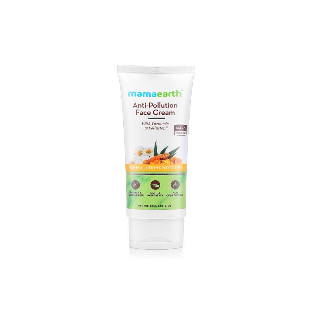 Mamaearth Anti-Pollution Face Cream with Turmeric and Pollustop, PM 2.5 -1