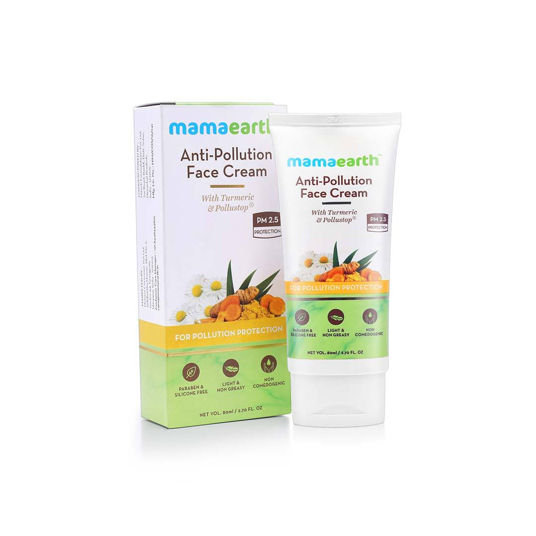 Mamaearth Anti-Pollution Face Cream with Turmeric and Pollustop, PM 2.5 -3
