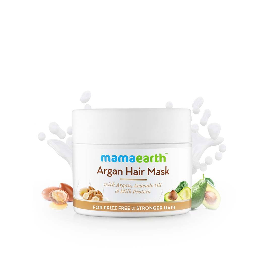 Mamaearth Argan Hair Mask with Argan, Avacado Oil and Milk Protein -2