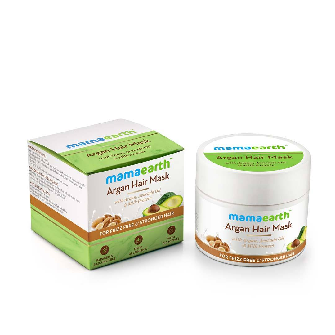 Mamaearth Argan Hair Mask with Argan, Avacado Oil and Milk Protein -3