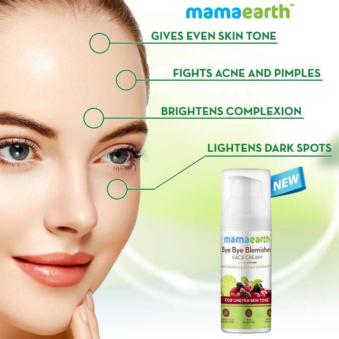 Mamaearth Bye Bye Blemishes Face Cream with Mulberry Extract and Vitamin C -3