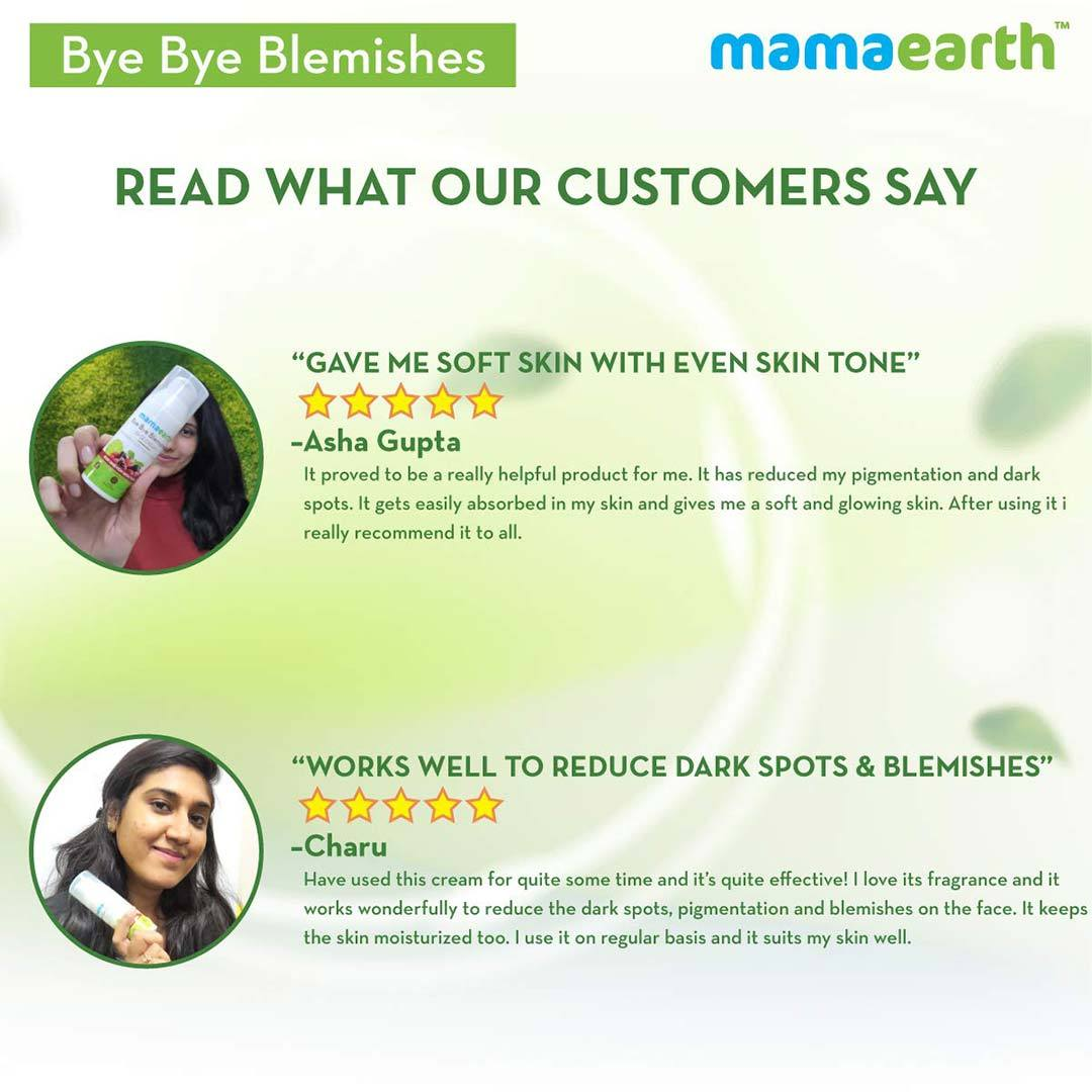 Mamaearth Bye Bye Blemishes Face Cream with Mulberry Extract and Vitamin C -7