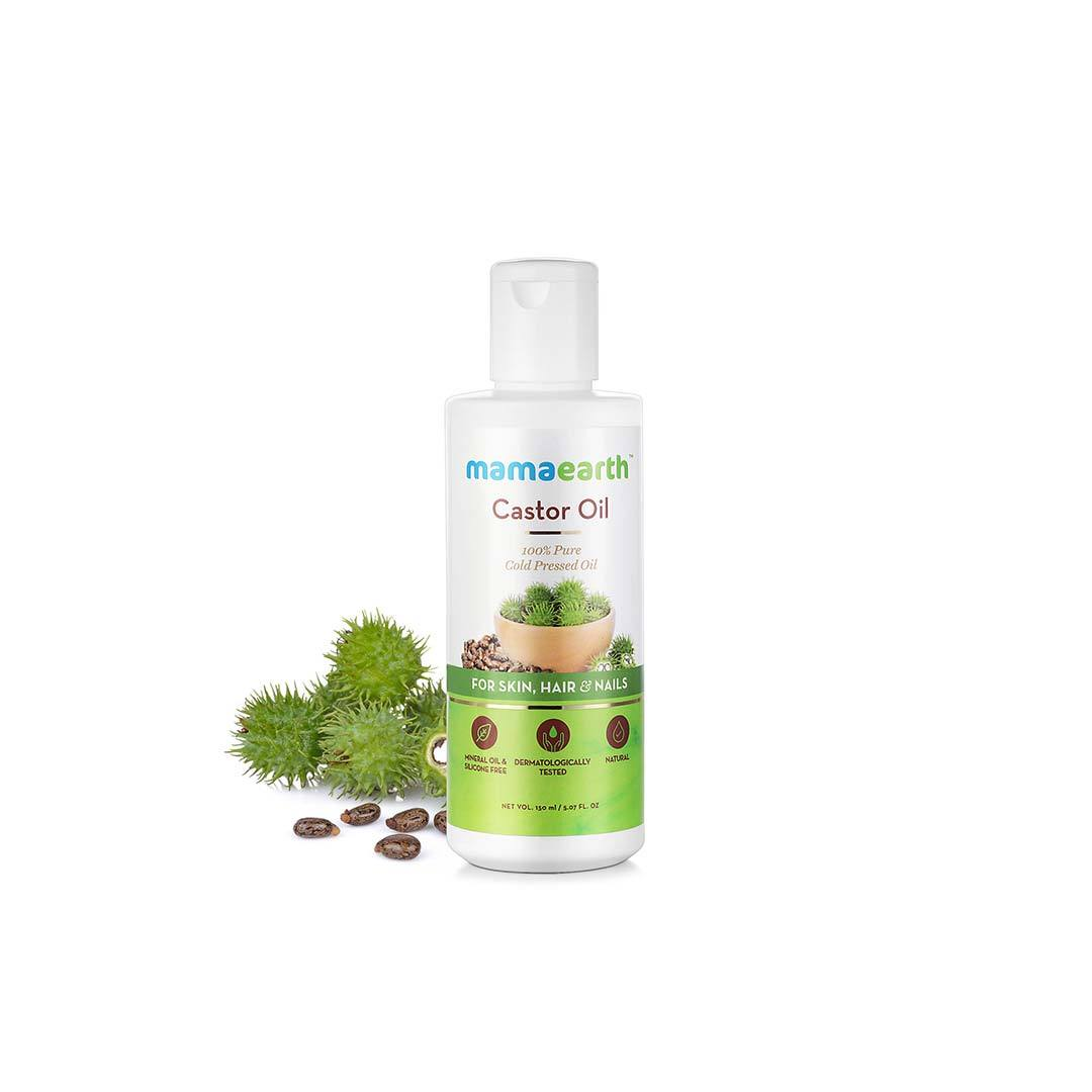 Mamaearth Castor Oil for Healthier Skin, Hair and Nails with 100% Pure Cold-Pressed Oil -2