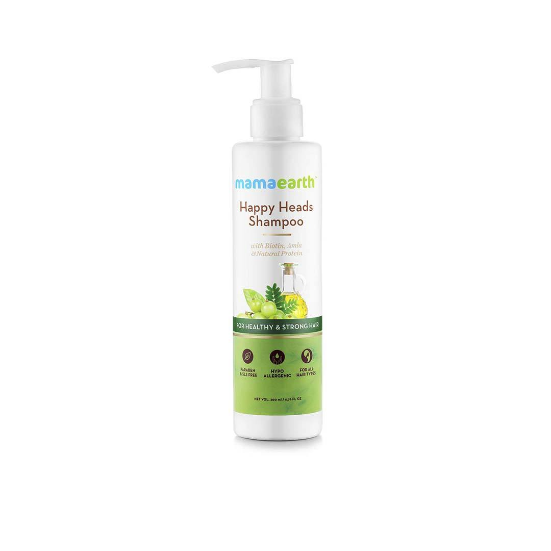 Mamaearth Happy Heads Shampoo for Healthy and Strong Hair with Biotin, Amla and Natural Protein -1