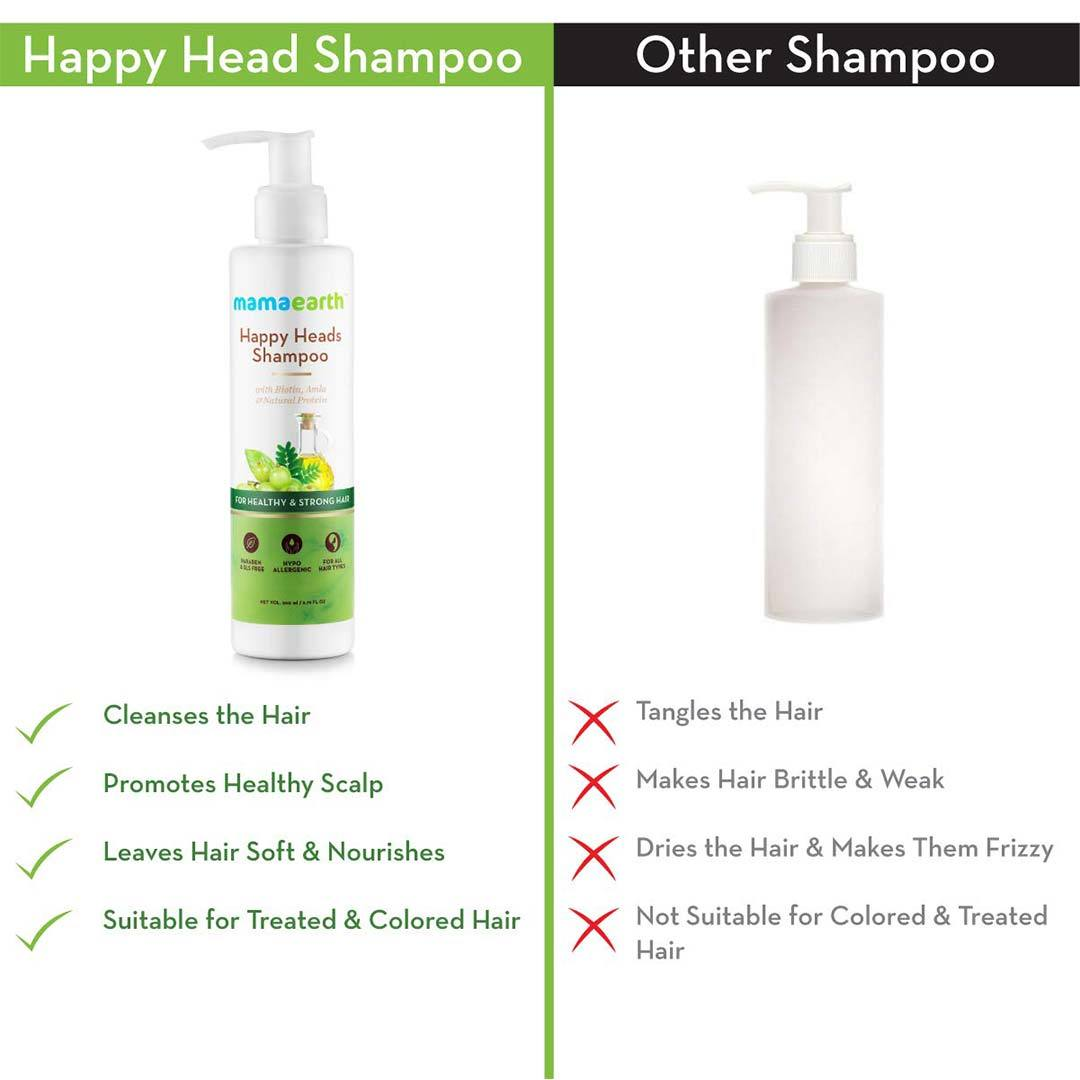 Mamaearth Happy Heads Shampoo for Healthy and Strong Hair with Biotin, Amla and Natural Protein -4