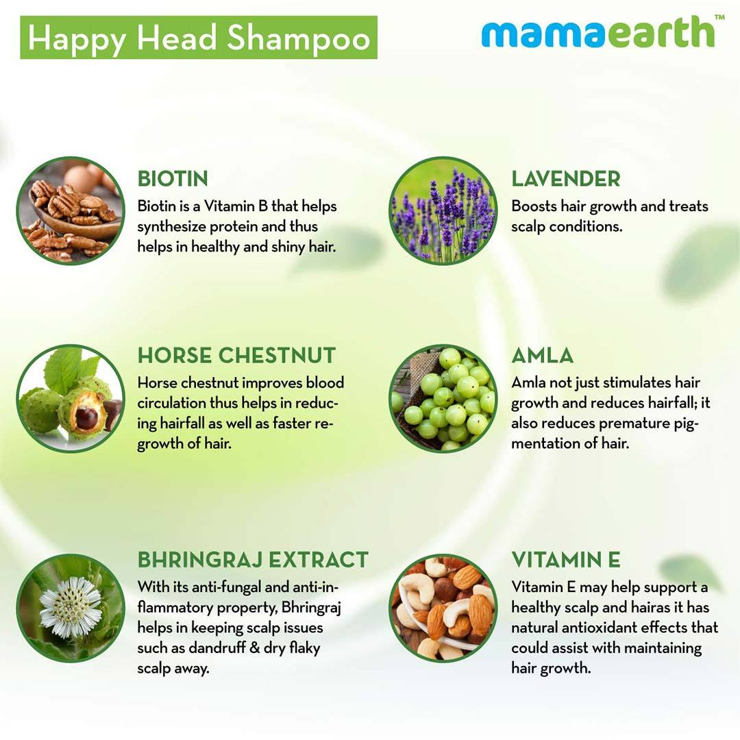 Mamaearth Happy Heads Shampoo for Healthy and Strong Hair with Biotin, Amla and Natural Protein -5