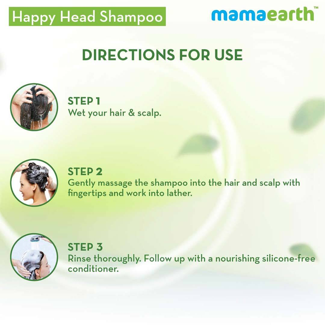 Mamaearth Happy Heads Shampoo for Healthy and Strong Hair with Biotin, Amla and Natural Protein -6