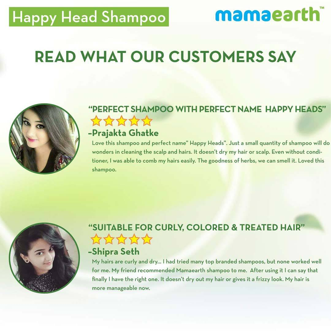 Mamaearth Happy Heads Shampoo for Healthy and Strong Hair with Biotin, Amla and Natural Protein -7