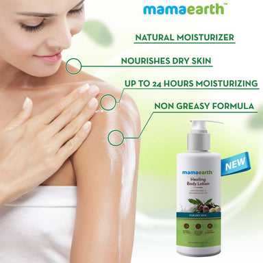 Mamaearth Healing Body Lotion for Dry Skin with Moroccan Argan and Macadamia Nut Oil -2