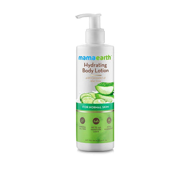 Mamaearth Hydrating Body Lotion for Normal Skin with Cucumber and Aloe Vera -1