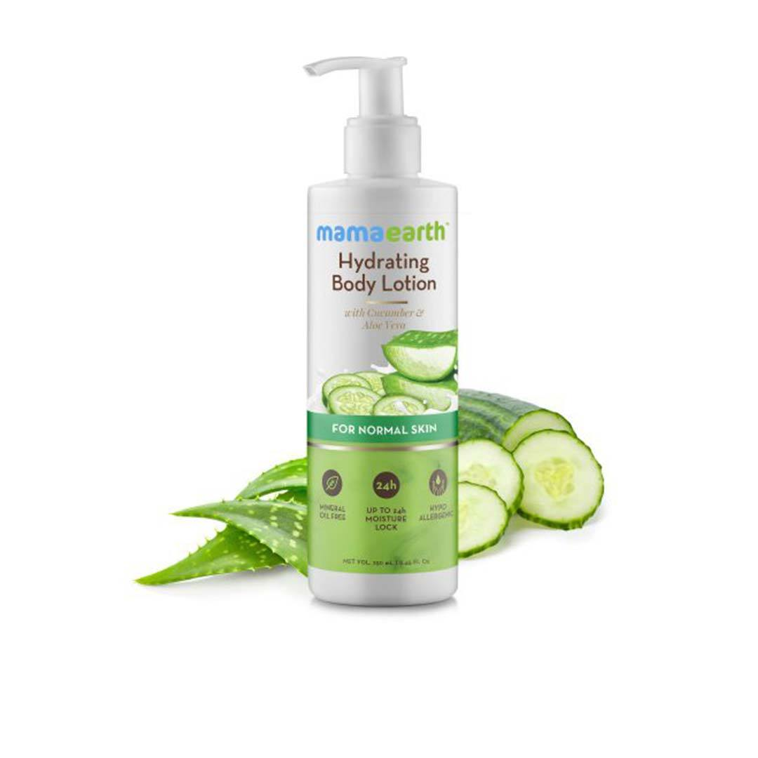 Mamaearth Hydrating Body Lotion for Normal Skin with Cucumber and Aloe Vera -2