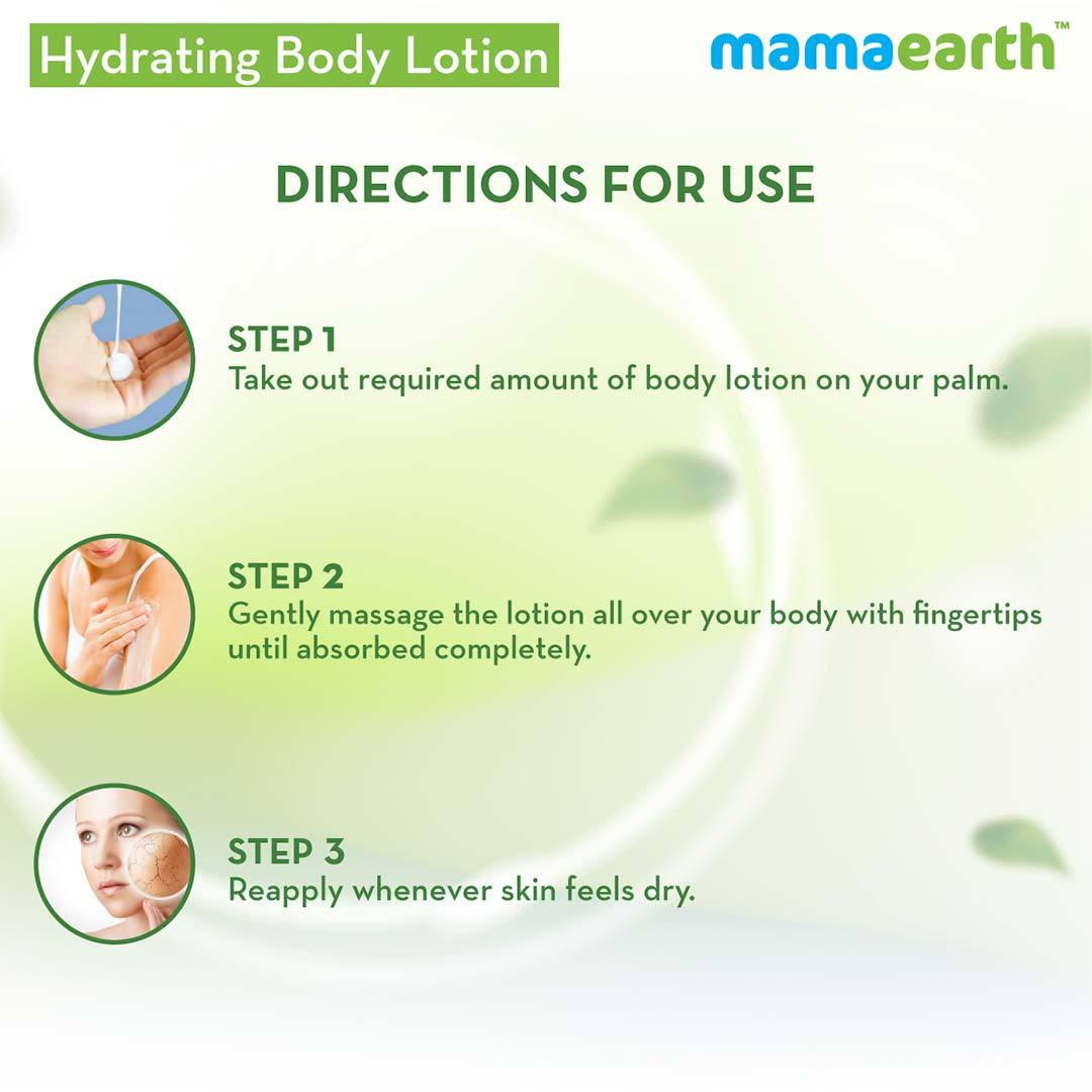 Mamaearth Hydrating Body Lotion for Normal Skin with Cucumber and Aloe Vera -6