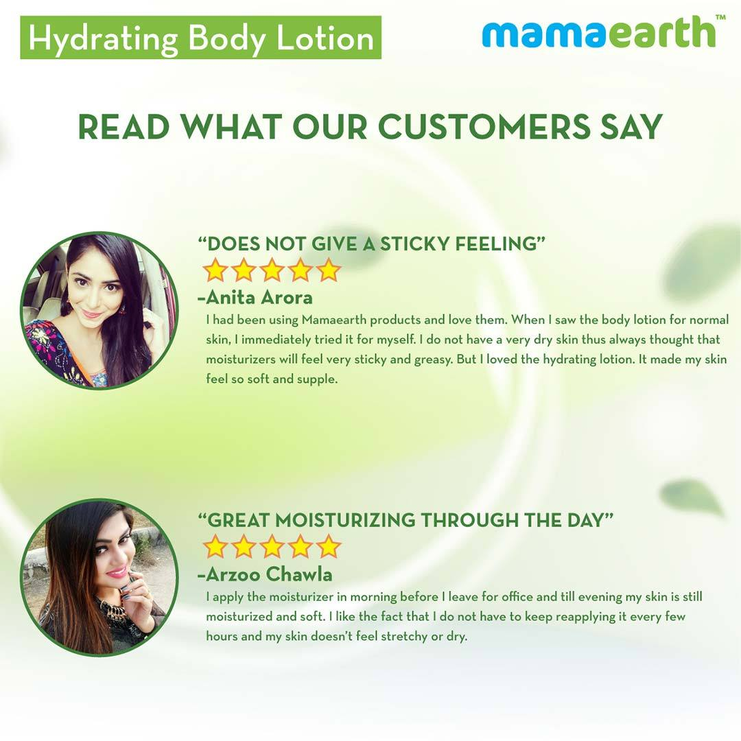 Mamaearth Hydrating Body Lotion for Normal Skin with Cucumber and Aloe Vera -7