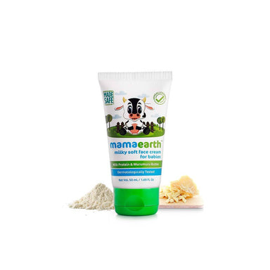 Mamaearth Milky Soft Face Cream for Babies with Milk Protein and Murumuru Butter