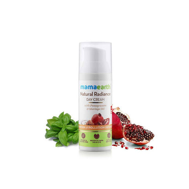 Mamaearth Natural Radiance Day Cream for Sun and Pollution Defence with Pomegranate and Moringa Oil -2