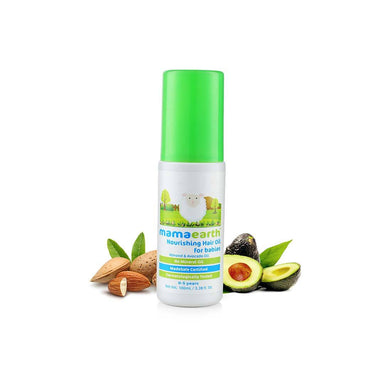 Mamaearth Nourishing Hair Oil for Babies with Almond and Avocado Oil