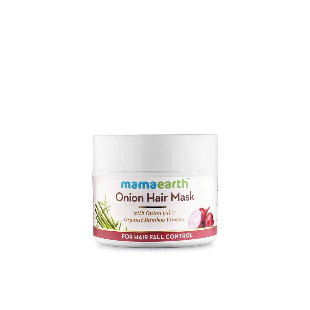 Mamaearth Onion Hair Mask for Hair Fall Control with Onion Oil and Organic Bamboo Vinegar -1