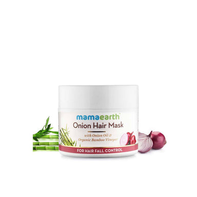 Mamaearth Onion Hair Mask for Hair Fall Control with Onion Oil and Organic Bamboo Vinegar -2