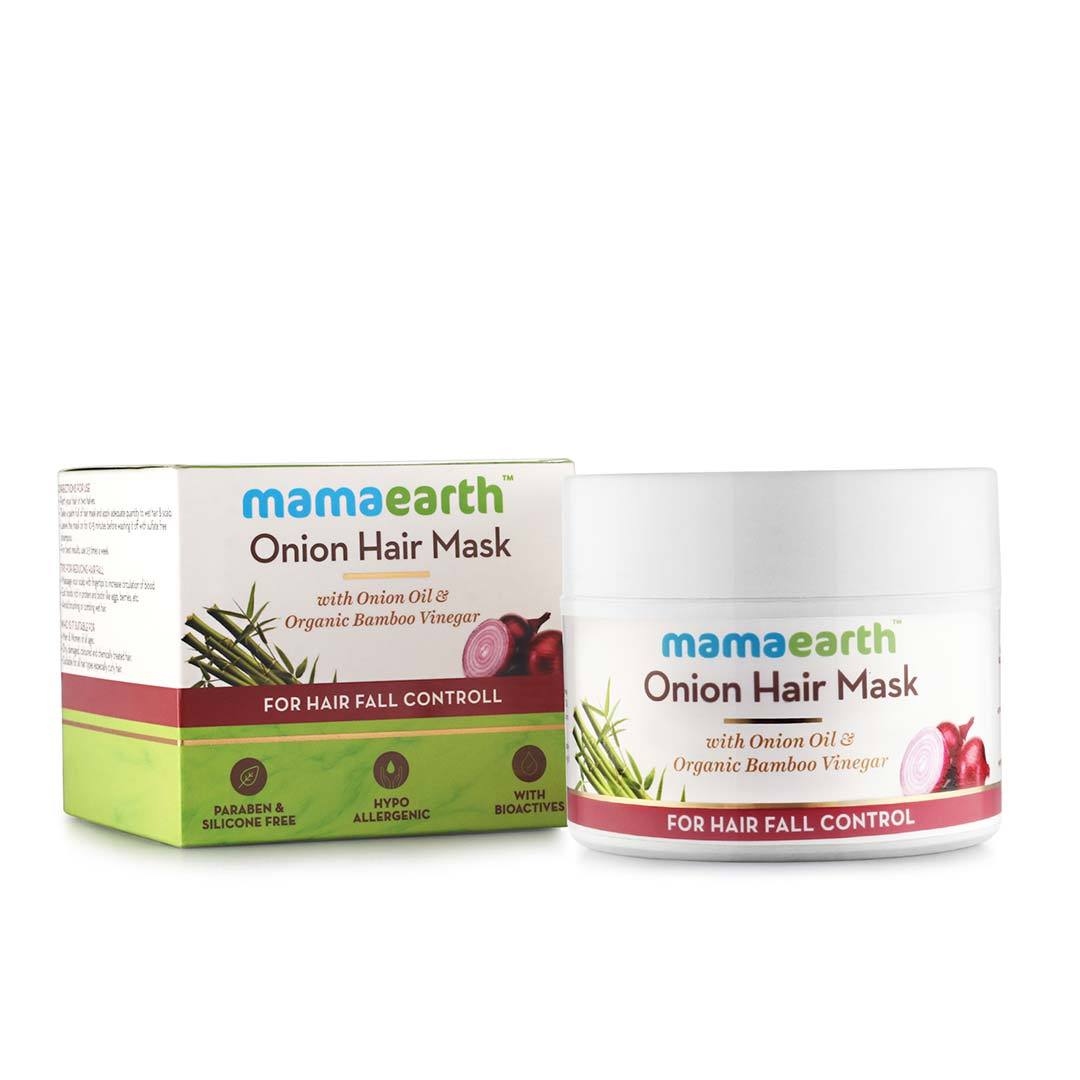 Mamaearth Onion Hair Mask for Hair Fall Control with Onion Oil and Organic Bamboo Vinegar -3