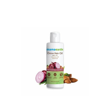 Mamaearth Onion Hair Oil for Hair Fall Control with Onion Oil and Redensyl