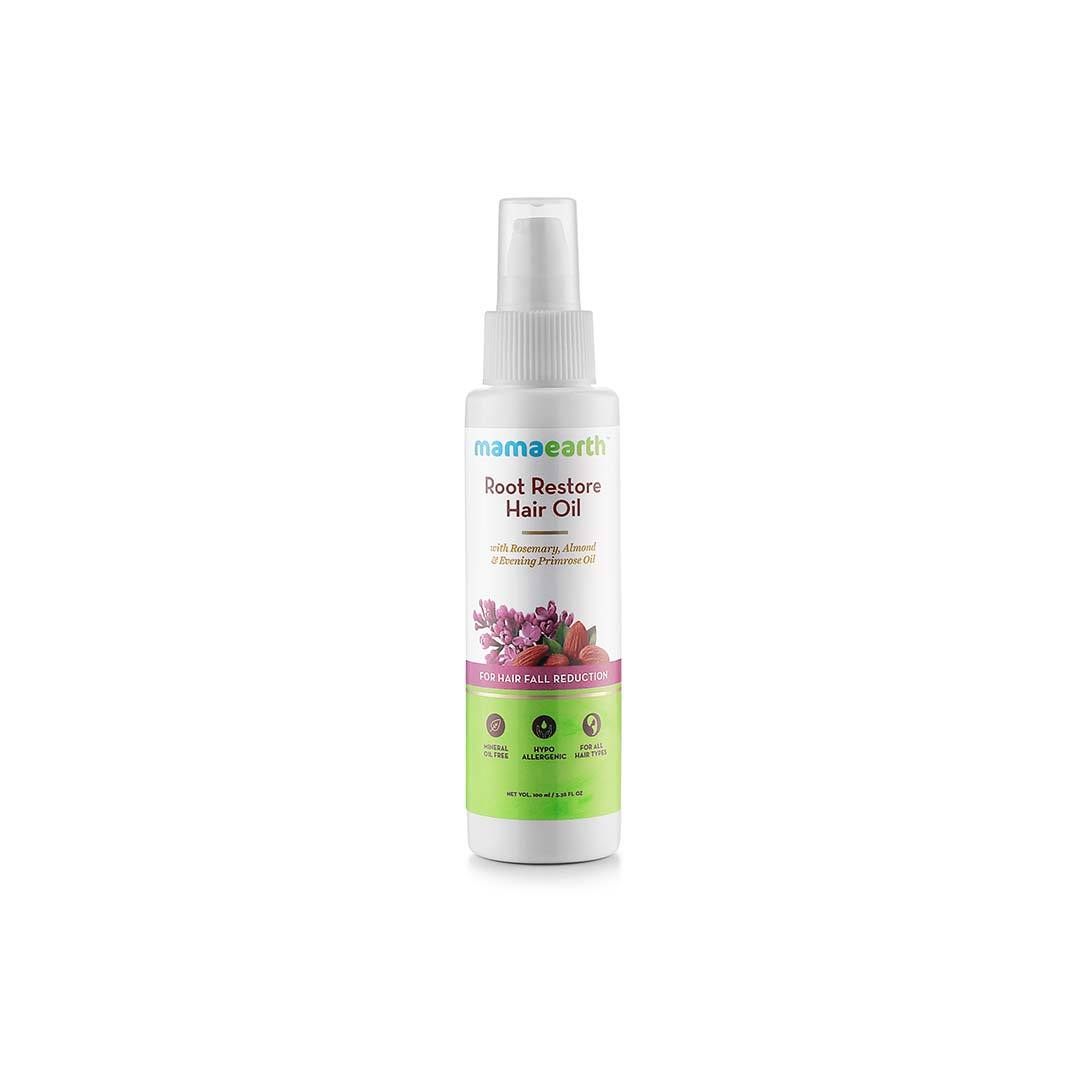 Mamaearth Root Restore Hair Oil for Hair Fall Reduction with Rosemary, Almond and Vitamin E -1