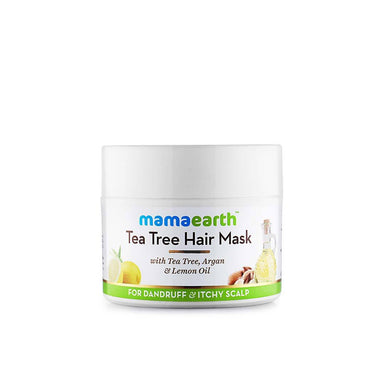 Mamaearth Tea Tree Hair Mask for Dandruff and Itchy Scalp with Tea Tree, Argan and Lemon Oil -1