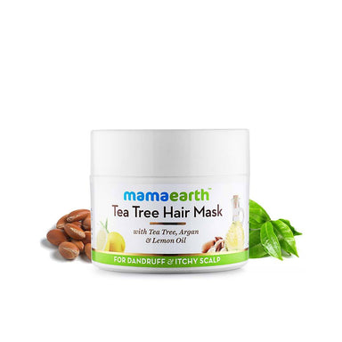 Mamaearth Tea Tree Hair Mask for Dandruff and Itchy Scalp with Tea Tree, Argan and Lemon Oil -2