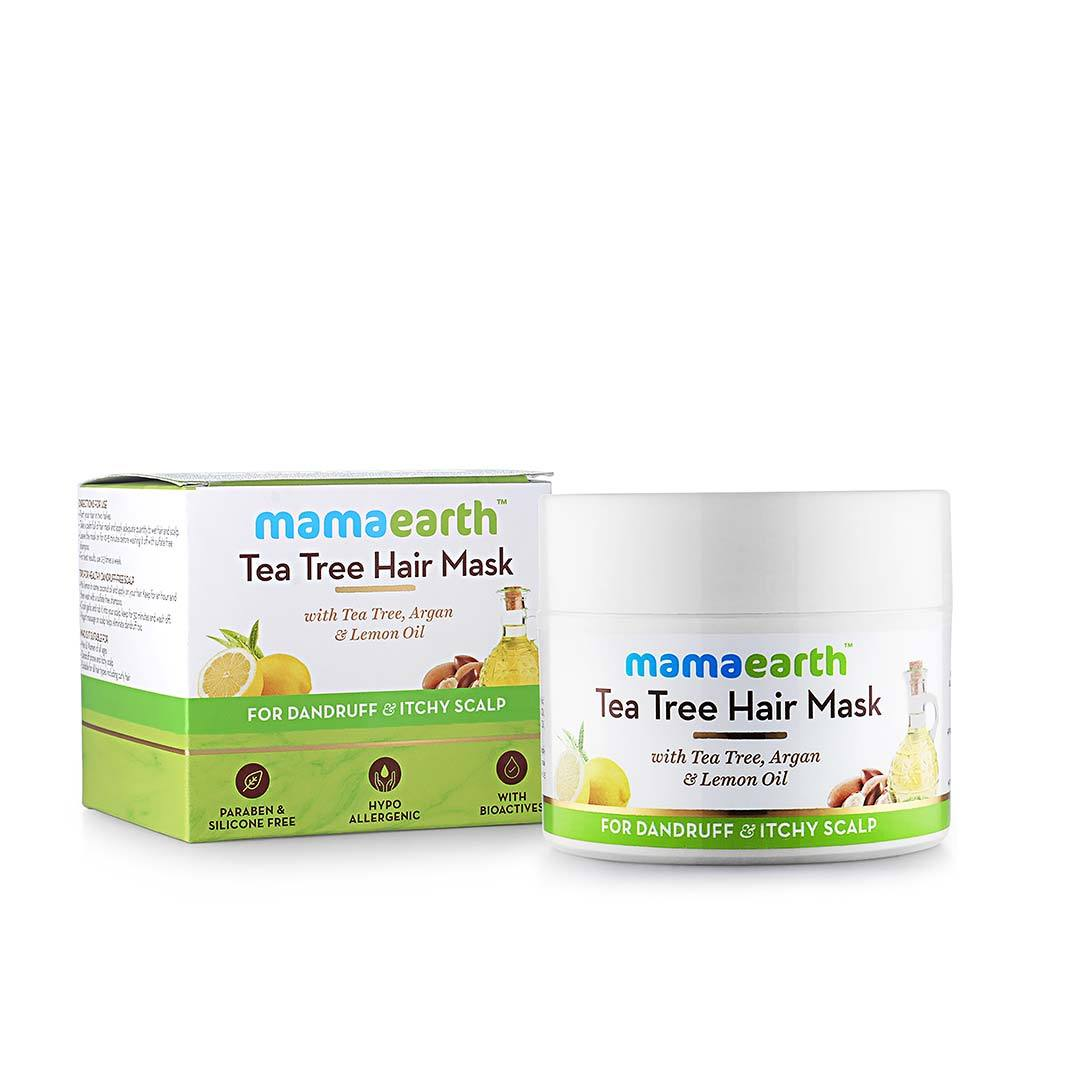 Mamaearth Tea Tree Hair Mask for Dandruff and Itchy Scalp with Tea Tree, Argan and Lemon Oil -3