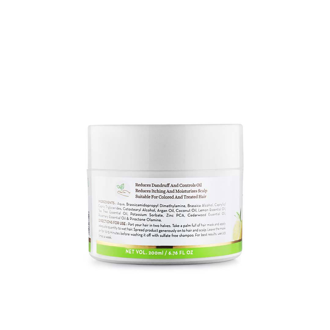 Mamaearth Tea Tree Hair Mask for Dandruff and Itchy Scalp with Tea Tree, Argan and Lemon Oil -4