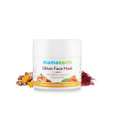 Mamaearth Ubtan Face Mask for Skin Lightening and Brightening with Saffron, Turmeric and Apricot Oil -2