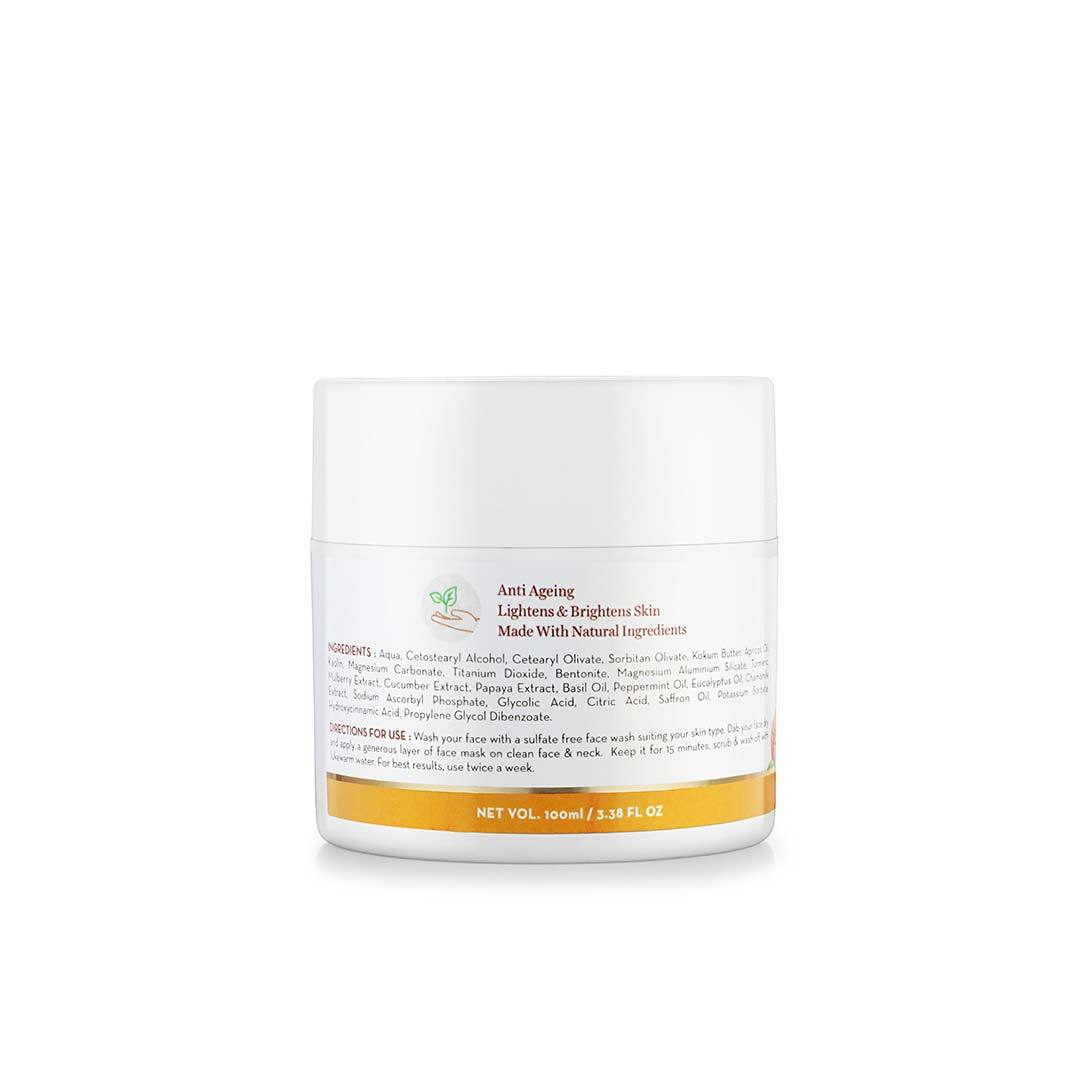 Mamaearth Ubtan Face Mask for Skin Lightening and Brightening with Saffron, Turmeric and Apricot Oil -4