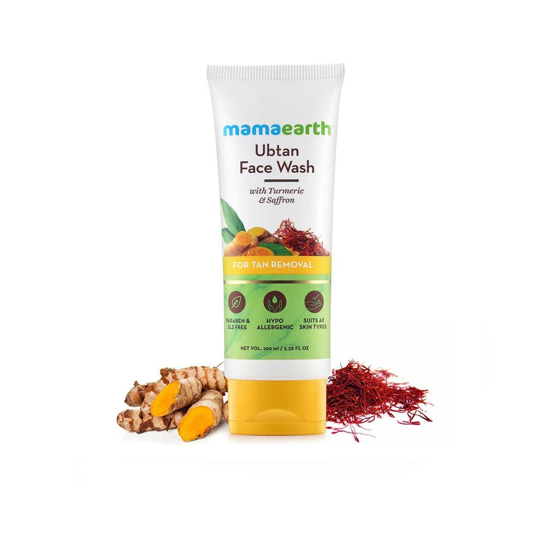 Mamaearth Ubtan Face Wash for Tan Removal with Turmeric and Saffron 100ml -4