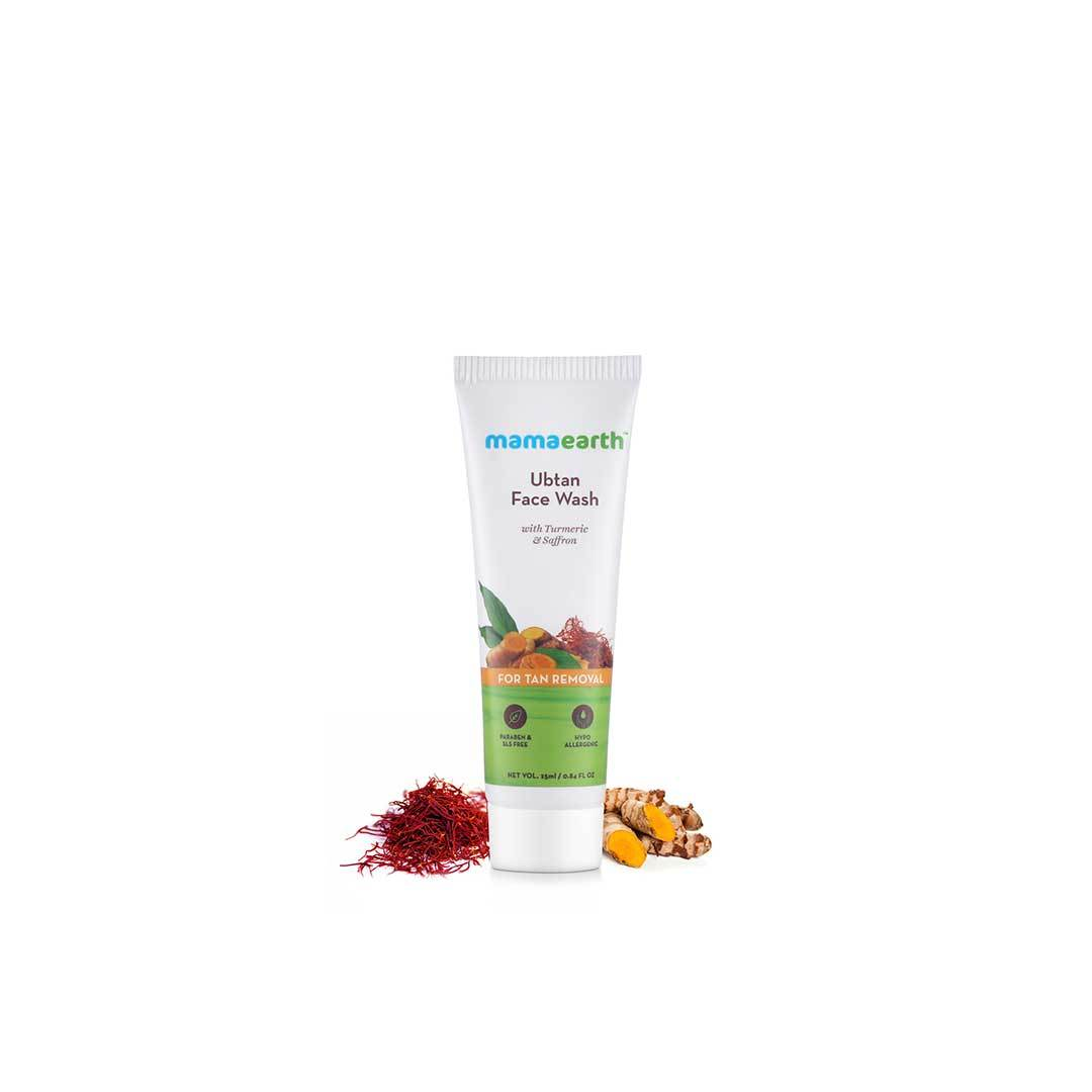 Mamaearth Ubtan Face Wash for Tan Removal with Turmeric and Saffron 25ml -2