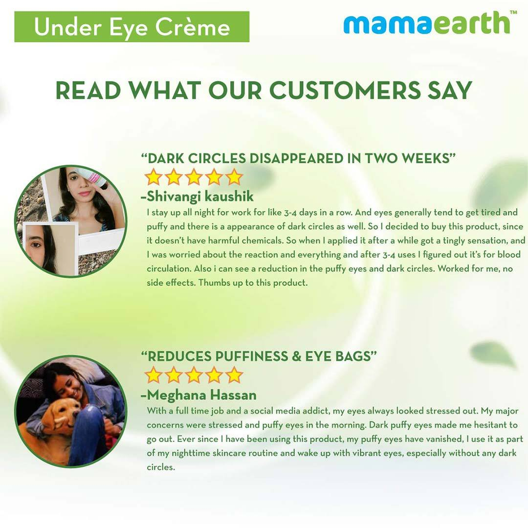 Mamaearth Under Eye Crème for Dark Circles with Cucumber and Coffee -7