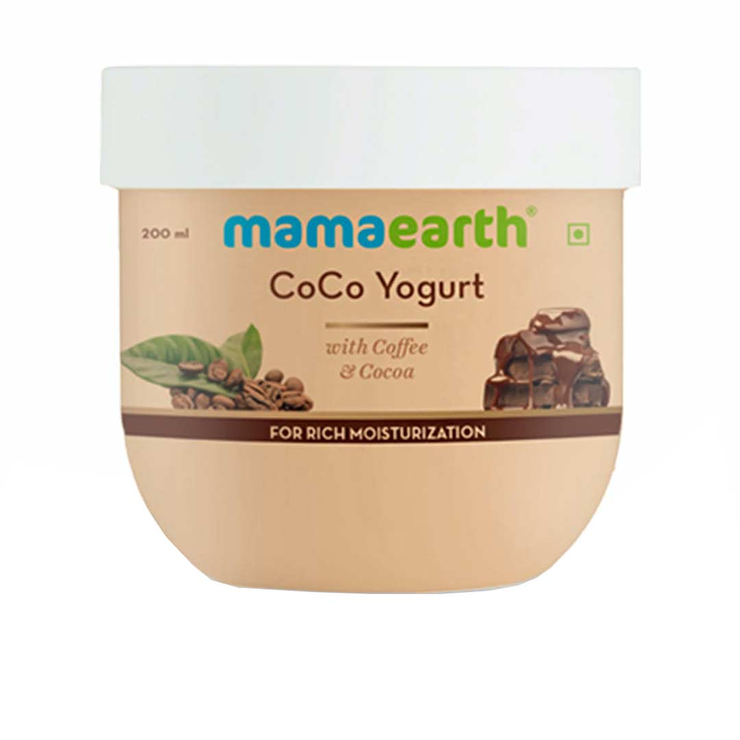 Mamaearth CoCo Yogurt with Coffee and Cocoa for Rich Moisturization