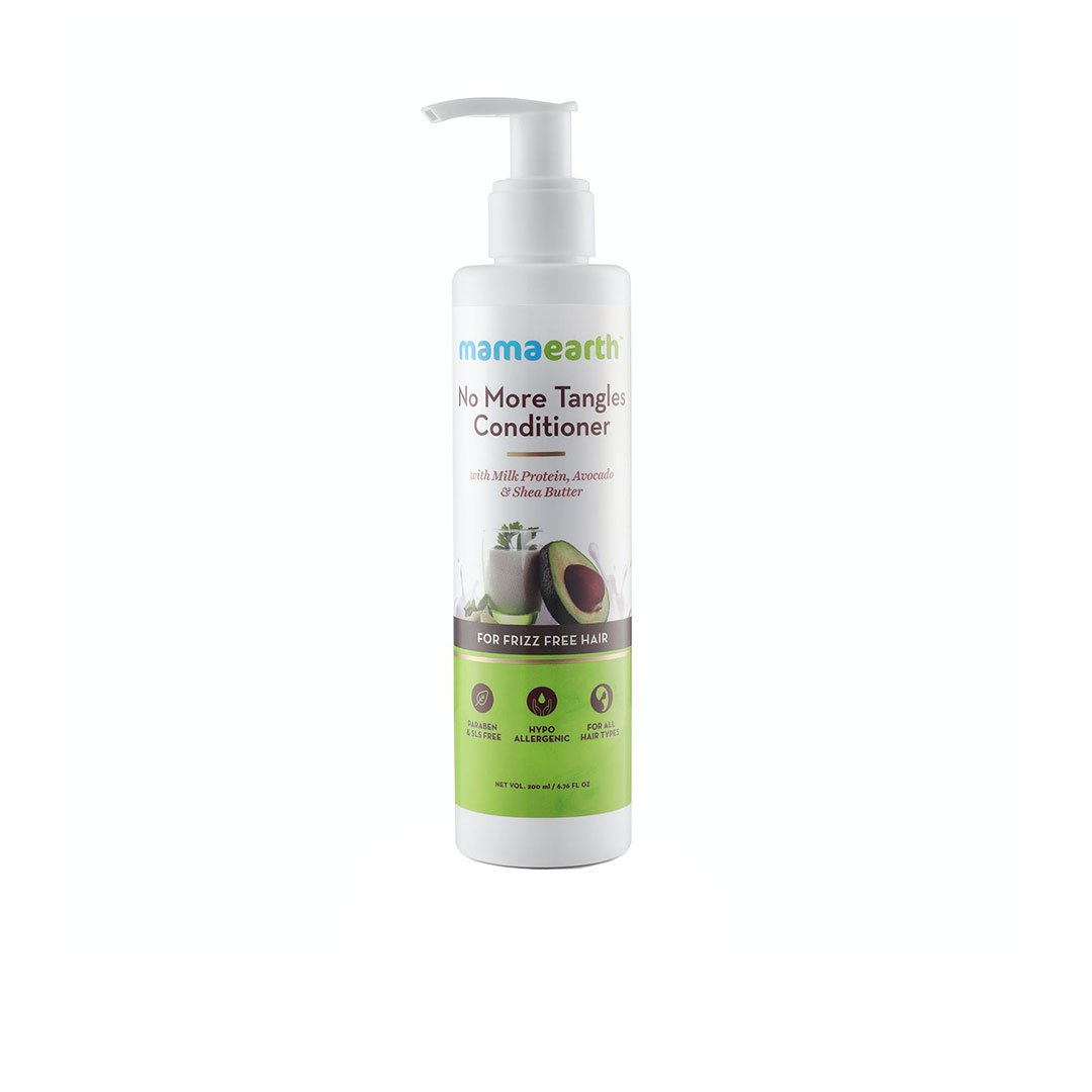 Vanity Wagon | Mamaearth No More Tangles Hair Conditioner with Milk Protein, Fenugreek, Amla and Tea Tree