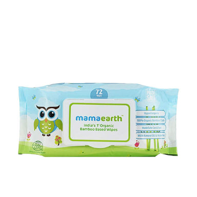 Vanity Wagon | Mamaearth Organic Bamboo Based Wipes, for Babies, with Almond Oil and Shea Butter