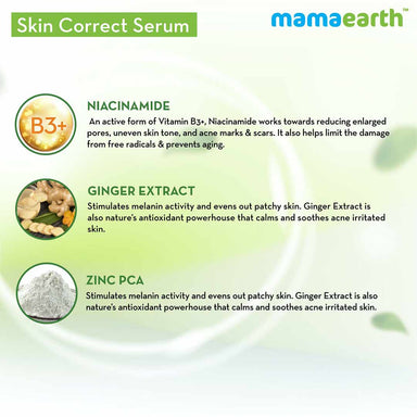 Mamaearth Skin Correct Face Serum with Niacinamide and Ginger Extract