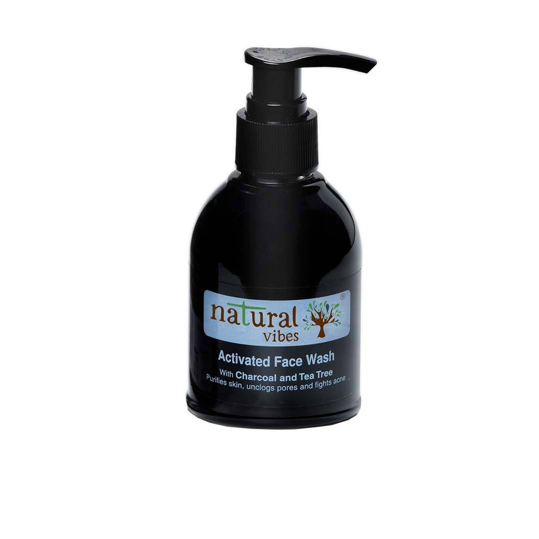 Natural Vibes Ayurvedic Activated Face Wash with Charcoal and Tea Tree -1