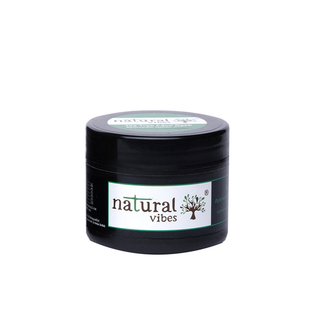 Natural Vibes Ayurvedic Tea Tree and Activated Charcoal Face Pack -1