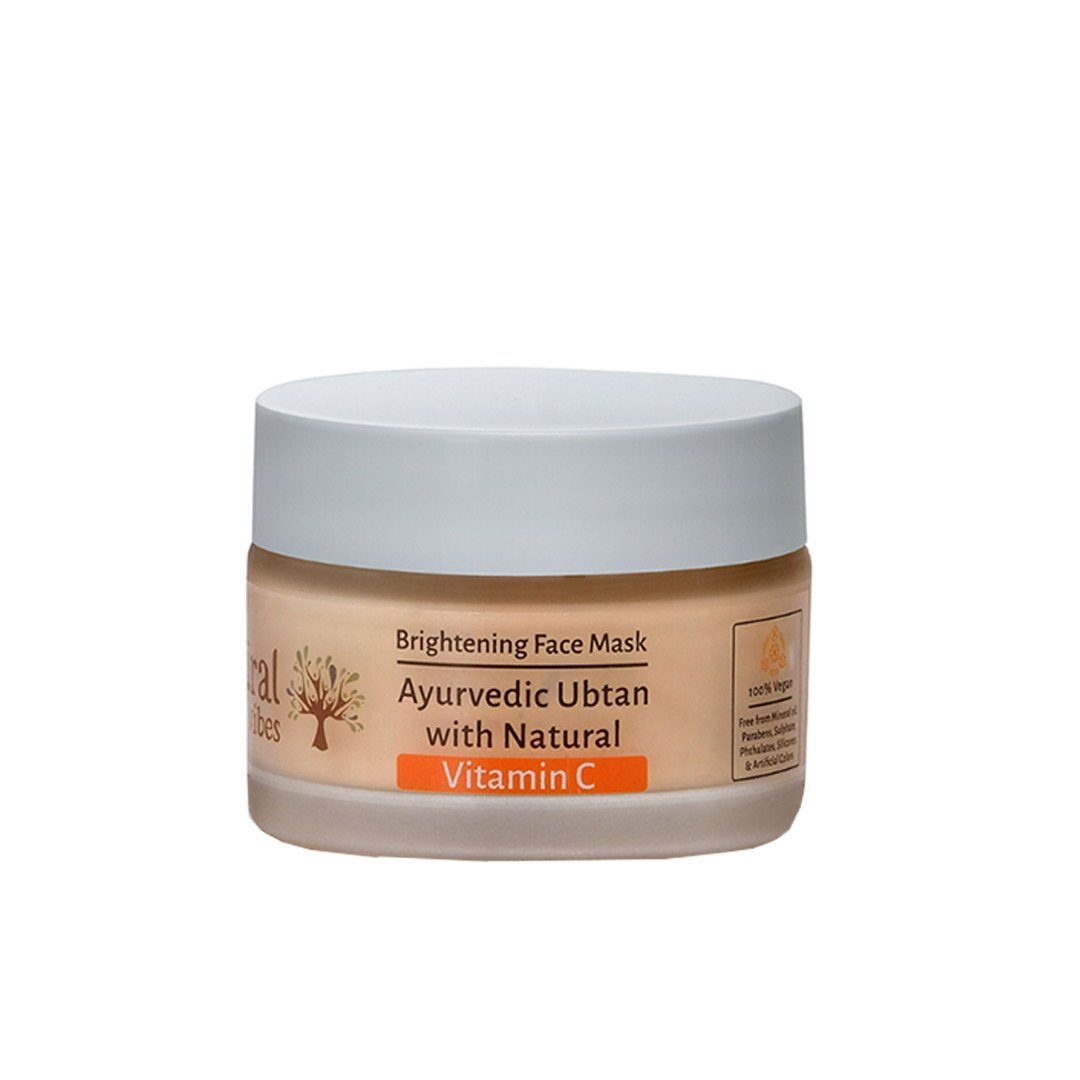 Natural Vibes Brightening Face Mask, Ayurvedic Ubtan with Vitamin C -1
