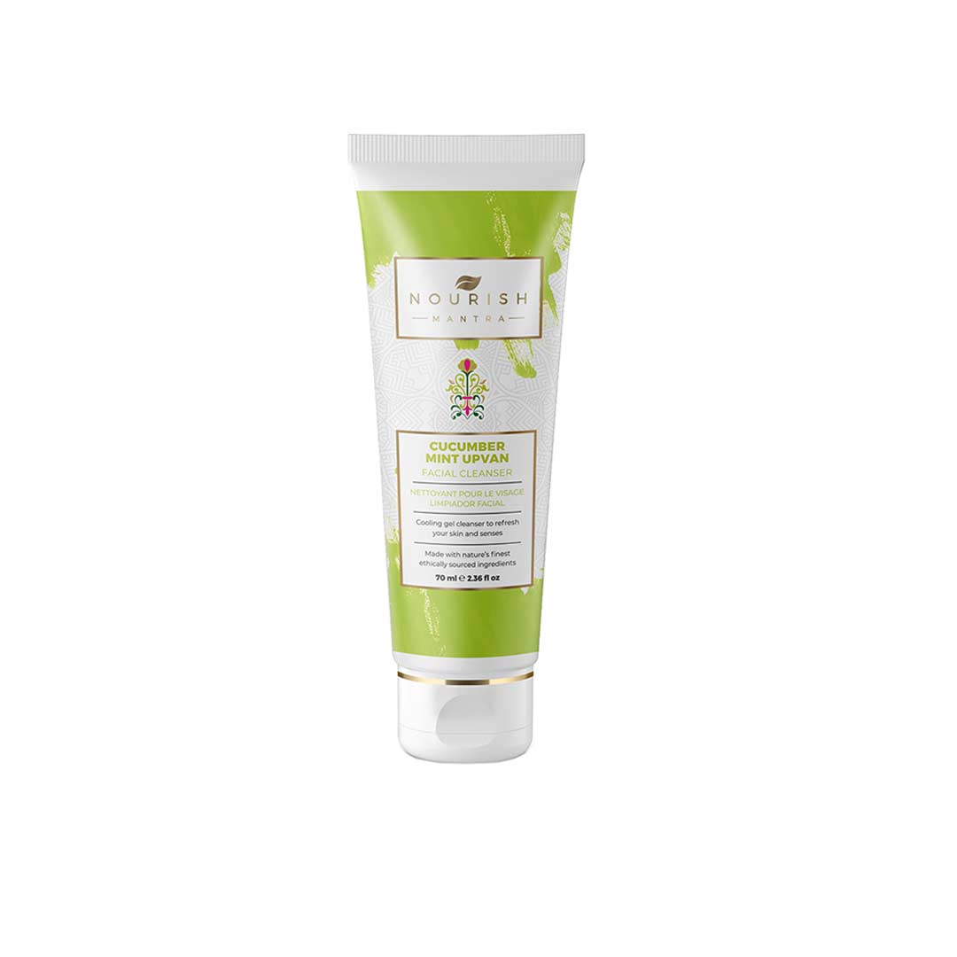 Vanity Wagon | Buy Nourish Mantra Cucumber Mint Upvan Facial Cleanser with Cucumber Fruit Extracts, Aloe Vera and Niacinamide