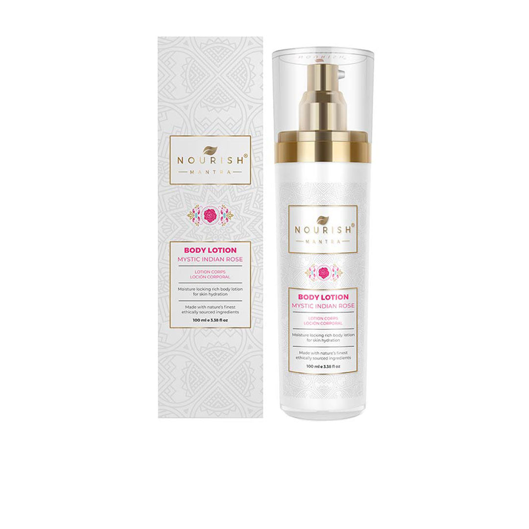 Vanity Wagon | Buy Nourish Mantra Mystic Indian Rose Body Lotion with Rose Water, Coconut Oil and Shea Butter