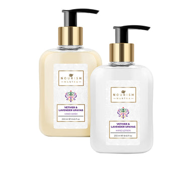 Nourish Mantra Vetiver & Lavender Upayas Hand Wash and Lotion Combo