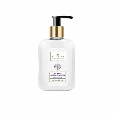 Nourish Mantra Vetiver and Lavender Upayas Hand Lotion with Almond Oil and Shea Butter