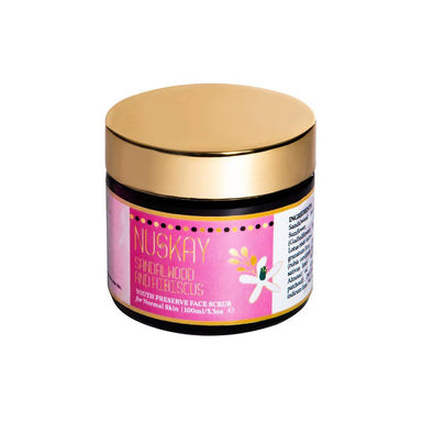 Nuskay Sandalwood and Hibiscus Face Scrub for Normal Skin -1