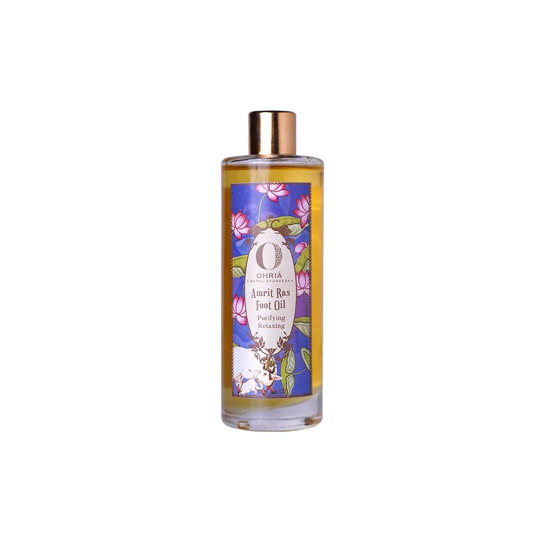 Ohria Ayurveda Amrit Ras Foot Oil, Purifying and Relaxing -1