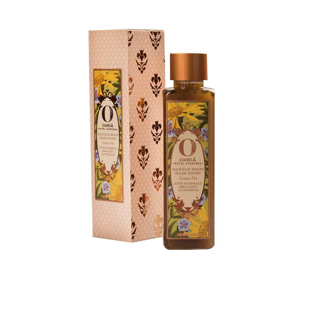 Ohria Ayurveda Banyan Root, Leave On Hair Tonic for Anti Hair Fall, Healthy and Lustrous Hair -3