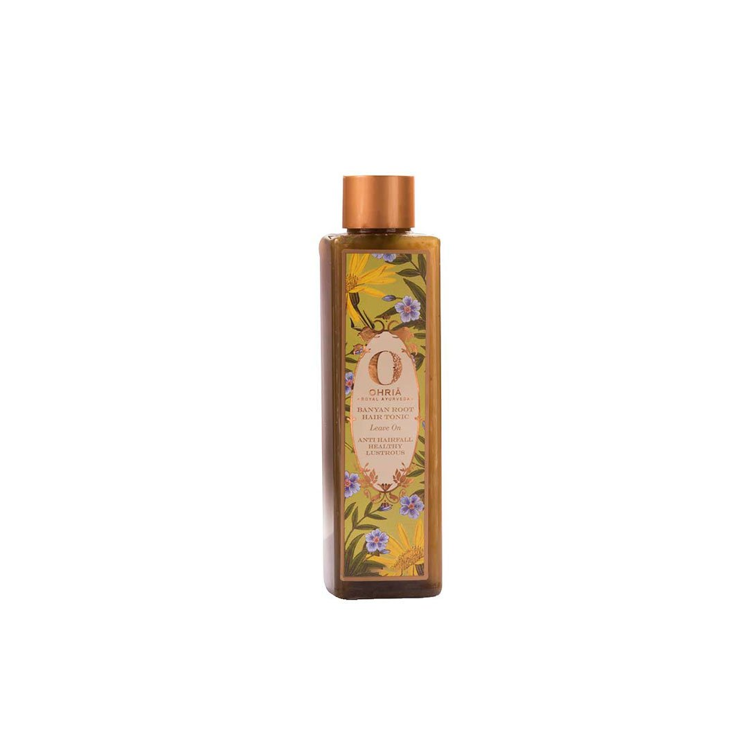 Ohria Ayurveda Banyan Root, Leave On Hair Tonic for Anti Hair Fall, Healthy and Lustrous Hair -1